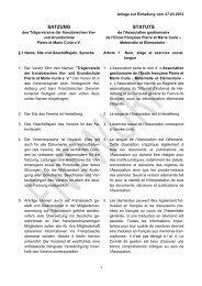 SATZUNG STATUTS - Ecole Pierre et Marie Curie Heidelberg