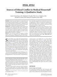 Sources of Ethical Conflict in Medical Housestaff Training: A ...