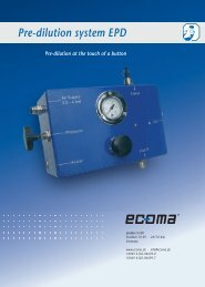 Pre-dilution system EPD