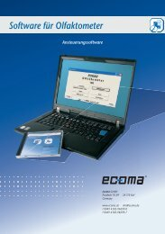 Software für Olfaktometer Ansteuerungssoftware