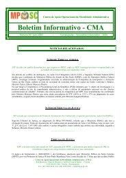 Boletim Informativo CMA 09 - Portal MPSC