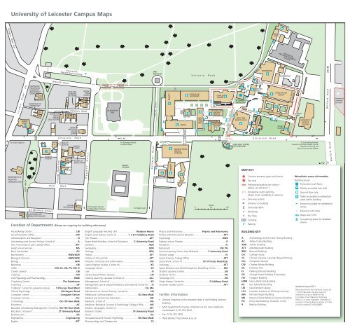 Campus Map - University of Leicester