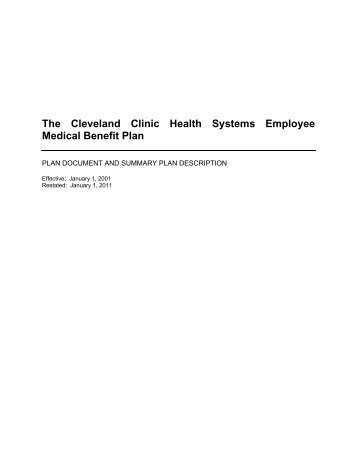 The Cleveland Clinic Health Systems Employee Medical Benefit Plan