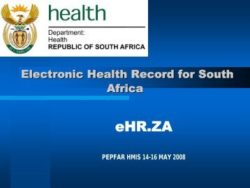 Electronic Health Record For South Africa