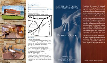 PDF :: Patient Guide - Mayfield Clinic