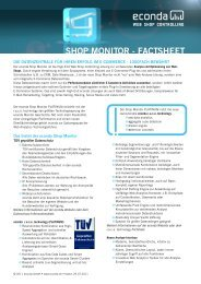 econda Shop Monitor Factsheet