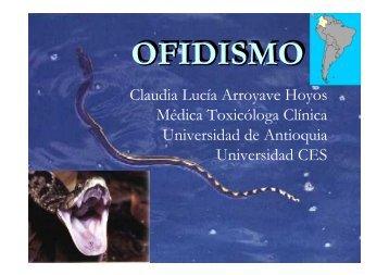 Claudia Lucía Arroyave Hoyos Médica Toxicóloga Clínica ... - bvsde