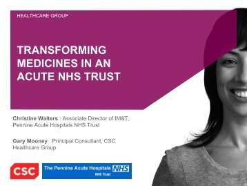 TRANSFORMING MEDICINES IN AN ACUTE NHS TRUST - HC2013