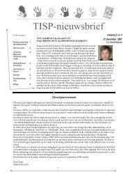 Nieuwsbrief januari 2008 - Technisch Instituut Sint-Paulus