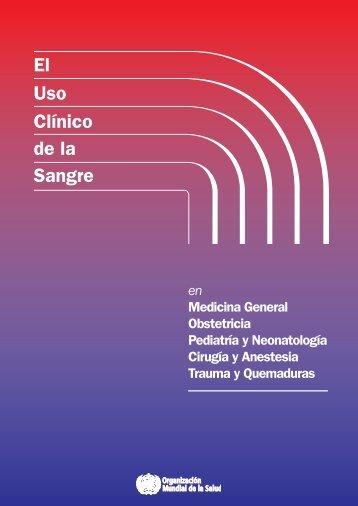 El uso clínico de la sangre - World Health Organization