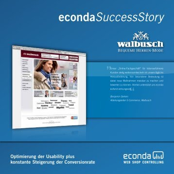 econda Success Story Walbusch