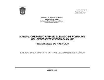 manual operativo para el llenado de formatos del expediente clínico ...