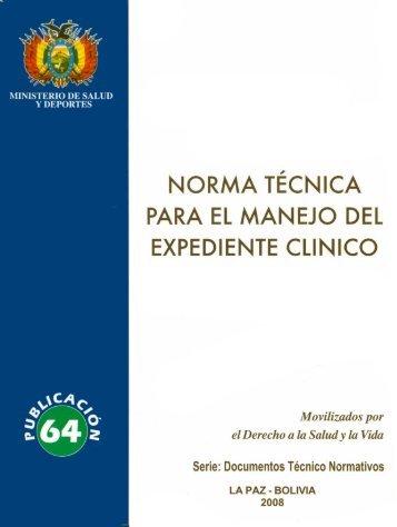 norma técnica para el manejo del expediente clinico - Ministerio de ...