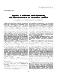 Importância do exame clínico para o diagnóstico das - Faculdade de ...