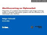 Abschlussvortrag zur Diplomarbeit - IMISE
