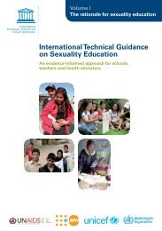 International technical guidance on sexuality education: an ...