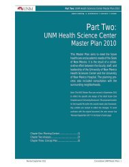 UNM Health Science Center Master Plan September 2011
