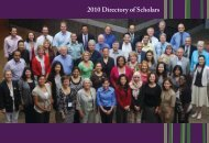 2010 Directory of Scholars - Academy for Academic Leadership
