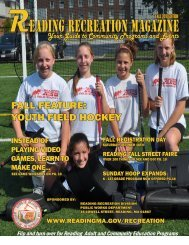 READING RECREATION MAGAZINE - Town of Reading