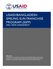 Smiling Sun Franchise Program (SSFP) - usaid