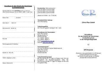 Clinic-Plan GmbH Grundkurs für OP-Personal
