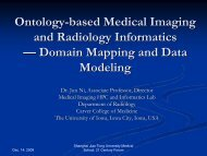 Ontology-based Medical Imaging and Radiology ... - University of Iowa
