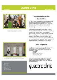 Fitness for alle - Quattro Clinic