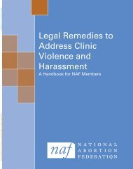 Legal Remedies to Address Clinic Violence and Harassment