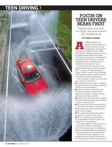 TEEN DRIVING > - Autoweek