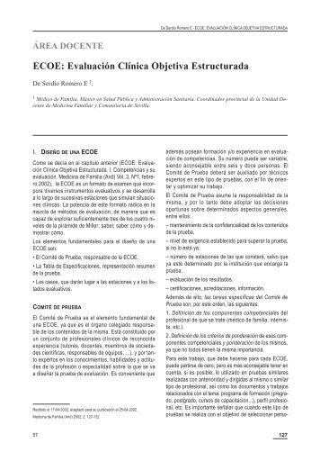 ECOE: Evaluación Clínica Objetiva Estructurada