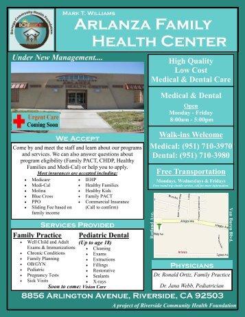 (951) 710-3970 Dental - Riverside Community Health Foundation
