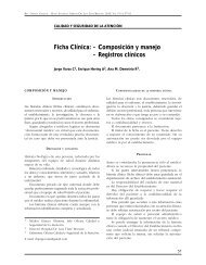 Ficha Clínica: - Composición y manejo - Registros clínicos