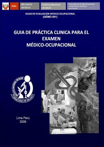 guia de práctica clinica para el examen médico - Hazard Control