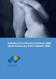 Palliative Care Directory Schweiz 2008 Guide ... - motiondraw.com