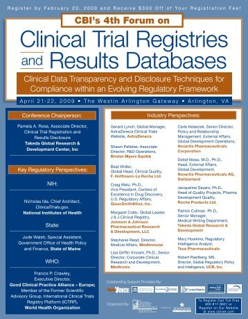 Clinical Trial Registries and Results Databases - SEC Associates, Inc.