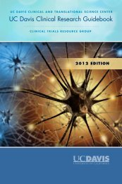 UC Davis Clinical Research Guidebook - UC Davis Health System ...