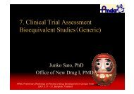 7. Clinical Trial Assessment Bioequivalent Studies(Generic) - ICH