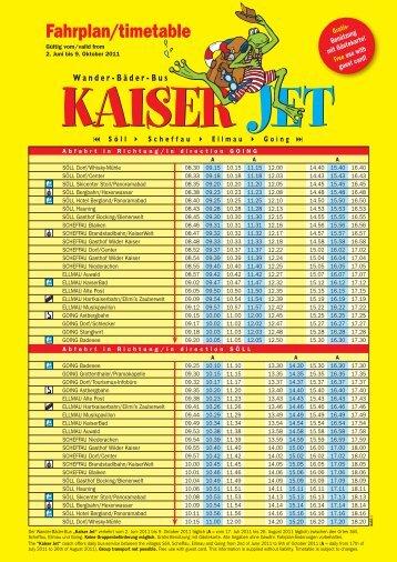 KAISER JET Mitbenützung auf der LINIE 4060 - Skiwelt Wilder ...