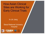 How Asian Clinical Sites are Working for Early Clinical Trials