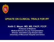 update on clinical trials for ipf - Coalition for Pulmonary Fibrosis
