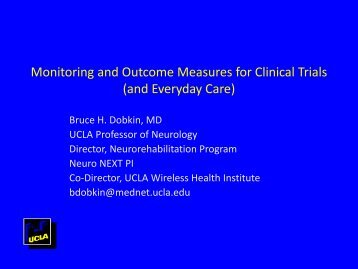 Monitoring and Outcome Measures for Clinical Trials ... - UCLA CTSI