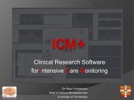 Clinical Research Software for Intensive Care Monitoring