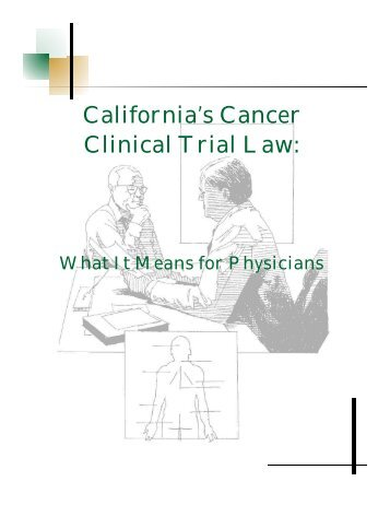 California's Cancer Clinical Trial Law: - the Association of Northern ...