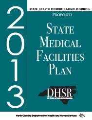 Proposed 2013 State Medical Facilities Plan - NC Department of ...