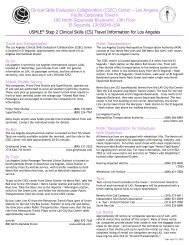 USMLE® Step 2 Clinical Skills (CS) Travel Information for ... - USMLEs