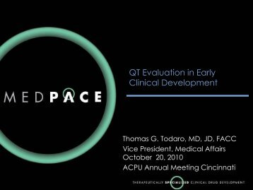 QT Evaluation in Early Clinical Development (PDF) - Medpace
