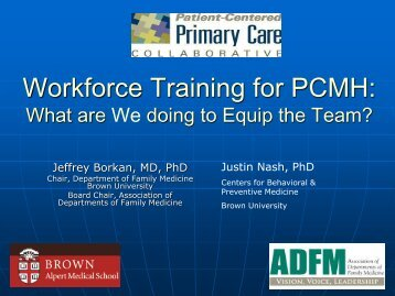 Workforce Training: What are we doing to prepare PCMH Clinicians ...