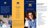 University of Michigan Home Care Services