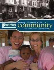 Making a Difference in Our - University of Maryland Medical Center