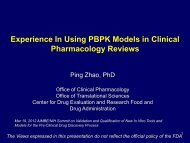 Experience In Using PBPK Models in Clinical Pharmacology Reviews